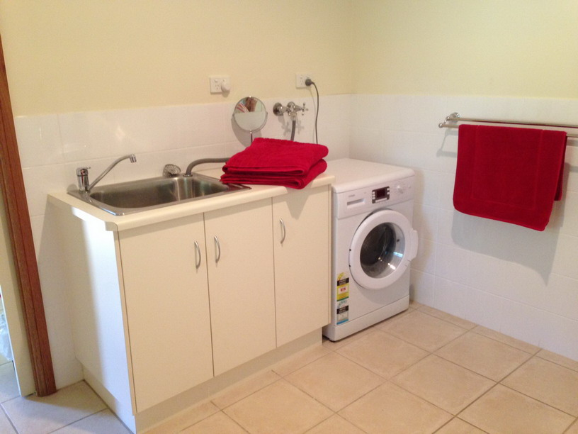 Laundry with washing machine for that longer stay.